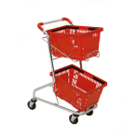 Trolleys for shopping baskets