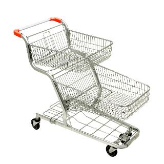 Doppelkorb-Einkaufswagen DLT