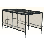 Shopping trolley storage units