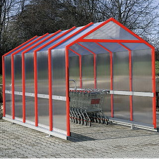 Trolley shelter unit with pitched roof (P2)